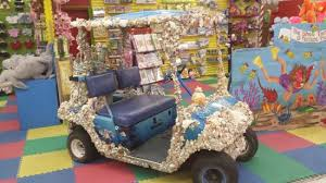 golf cart decorated with sea ss