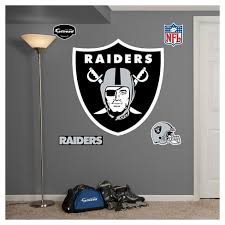 Nfl Fathead Junior Wall Decal 52 X 4 X 11 Oakland Raiders Target