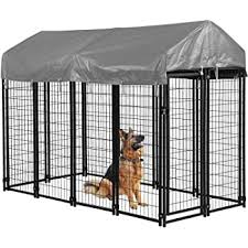 Amazon Com Bms Dog Pen Dog Fence Dog House Playpen Outdoor Camping Large Heavy Duty Dog Crate Kennel Cage With Reversibel Cover 4 X 4 X 4 3 7 5 X 3 75 X 5 8feet 7 5 X 3 75 X 5 8 Pet Supplies
