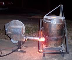 homemade gas fired crucible furnace