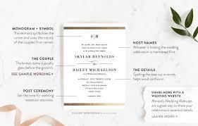 wedding invitation wording etiquette