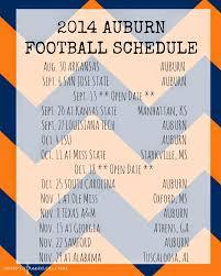 Auburn Football Schedule ...