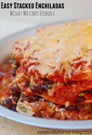 easy stacked en enchiladas