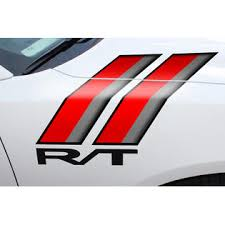 Car Gear Dodge Charger Rt Hash Marks Hood Race Stripes Graphics Decals 2011 2014 Red Black