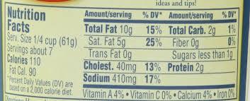 bertolli alfredo sauce nutrition facts