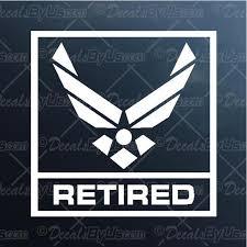 Decal Retired Air Force Car Truck Window Sticker