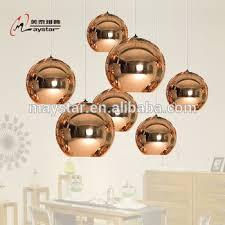 glass global round ball pendant light