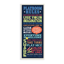 The Kids Room By Stupell 7 In X 17 In Playroom Rules Colorful Typography Navy Blue Green And Red By Stephanie Marrott Wall Plaque Art Brp 2382 Wd 7x17 The Home Depot
