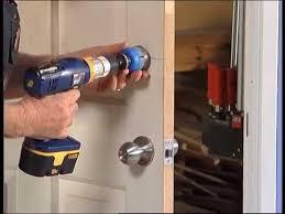 how to install a door lock diy at
