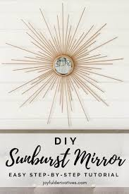 fabulous diy sunburst mirror
