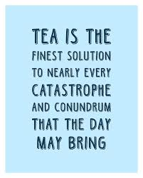 tea is the finest solution poster tea quotes tea poster cafe