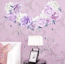 Large Peony Rose Flowers Blossom Wall Stickers Kid Home Nursery Decor Art Mural