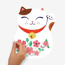 Lucky Cat Wall Decals Roommates Decor