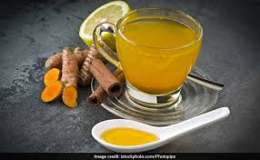 turmeric tea for weight loss and a flat