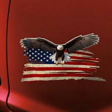 American Flag Bald Eagle Car Decal Stickers Truck Vehicle Window Stickers W L9p6