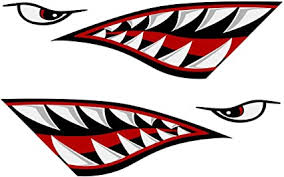 Amazon Com Alemon Shark Teeth Mouth Reflective Decals Graphics Sticker Fishing Boat Canoe Car Truck Kayak Decals Accessories Sports Outdoors