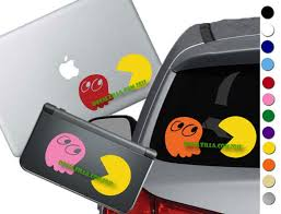 Pac Man Decal Sticker For Cars Laptops 3ds Phones And Etsy