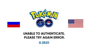 Pokemon GO - Unable to authenticate. Please try again error. (RUS ...