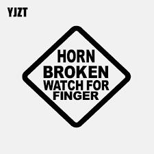 Yjzt 13cm 13cm Car Sticker Vinyl Decal Horn Broken Watch For Finger Black Silver C3 1965 Car Stickers Aliexpress