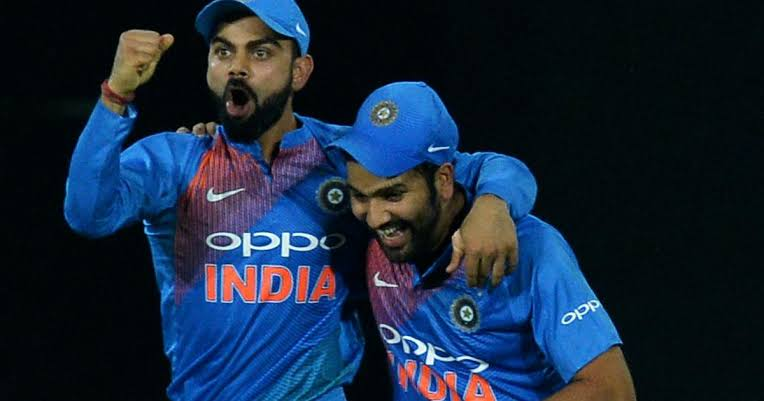 Image result for virat kohli and rohit sharma""