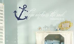 Hope Anchors The Soul Wall Decal Set Anchor Decal Bible Verse Wall Decal