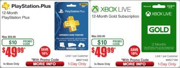 12 month playstation plus xbox