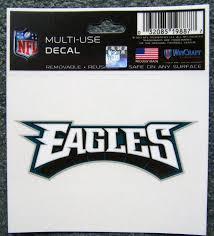 1 Philadelphia Eagles Nfl 3 5 Small Static Cling Window Car Decal Philly Rico For Sale Online