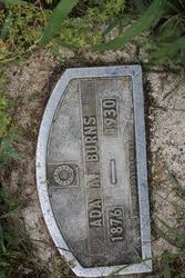 Ada Antoinette Bates Burns (1876-1930) - Find A Grave Memorial