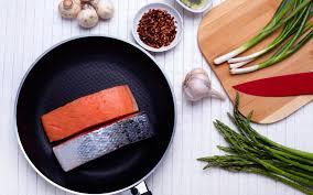 تحميل خلفيات طبخ سمك السلمون سمك السلمون عموم السمك الأحمر