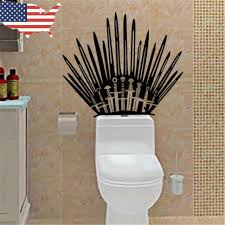 Game Of Thrones Decal Iron Throne Decal Got Toilet Wall Decal Throne Murial For Sale Online Ebay