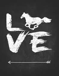 love horse lover lightly lined journal