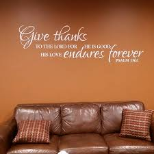 Psalm 136v1 Vinyl Wall Decal 1 Give Thanks To The Lord