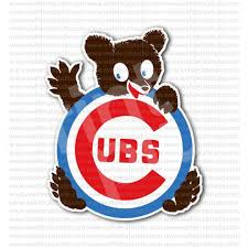 From 4 00 Buy Chicago Cubs Bear Baseball Team Sticker At Print Plus In Stickers Sport At Print Plus