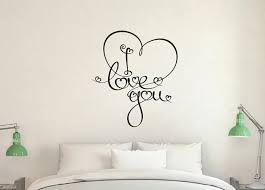 Winston Porter I Love You With Heart Scroll Swirls Vinyl Words Wall Decal Wayfair