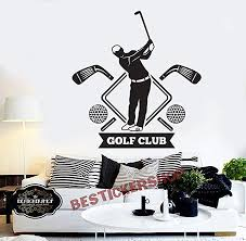 Amazon Com Golf Wall Decal Golf Decals Golf Quotes Decals Sport Wall Decals Vinyl Sticker Room Decal 1677re Home Kitchen
