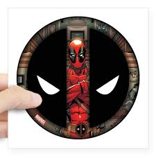 Cafepress Deadpool Logo Square Sticker 3 X 3 Square Sticker 3 X 3 Walmart Com Walmart Com