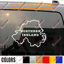 Northern Ireland Map Outline Silhouette Decal Sticker Car Vinyl Die Cut No Bkgrd Car Stickers Aliexpress