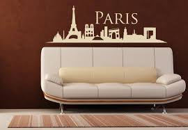 Wall Vinyl Decal Sticker Bedroom Decal Paris France Skyline Town City Stickersforlife