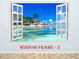 Pin On 3d Window Effect Nature Decal