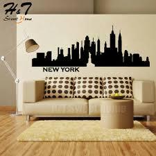 New York City Skyline Statue Of Liberty Vinyl Wall Sticker Decal Bedroom Decor Ebay