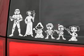 Star Wars Car Stickers Perfect For Sci Fi Families Star Wars Decal Family Decals Family Stickers