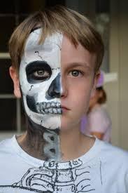 half skull makeup boy saubhaya makeup