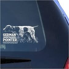 Amazon Com German Shorthaired Pointer Clear Vinyl Decal Sticker For Window Gsp Hunting Dog Sign Art Print Arts Crafts Sewing