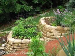 tiered raised bed vegetable garden