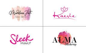 cosmetic makeup beauty or salon logo