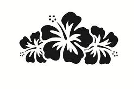 Flower Car Decals Car Stickers Hibiscus Flower Car Decal 03 Anydecals Com