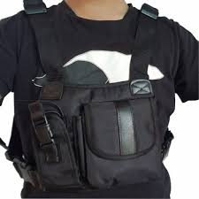 hands free chest harness bag holster