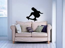 Skate Skateboard Skateboarder Board Sport Jump Street Wall Vinyl Decals Art Sticker Home Modern Stylish Interior Decor For Any Room Smooth And Flat Surfaces Housewares Murals Design Graphic Bedroom Living Room 4661