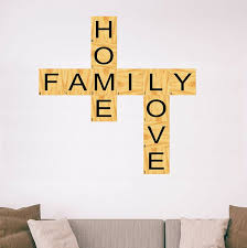 Winston Porter Home Family Love Scrabble Vinyl Letters Unique For Living Rooms Wall Decal Wayfair