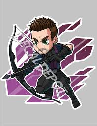 Hawkeye Clint Barton The Avengers Vinyl Decal Etsy